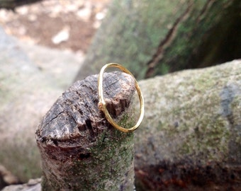 alternative gold wedding ring, unique ring, petite gold ring, minimalist gold ring , stacking ring, elegant gold ring, dainty ring, raw band