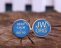 Wedding Gift Ideas For Jehovah Witness : ... custom keep calm cufflink, jw gift ideas, jehovah witnesses cufflinks