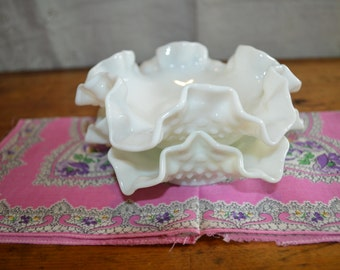 Sale!!  Two Great Vintage  HOBNAIL CANDY DISHES. Unsigned/Fenton Possibly. Lovely!!