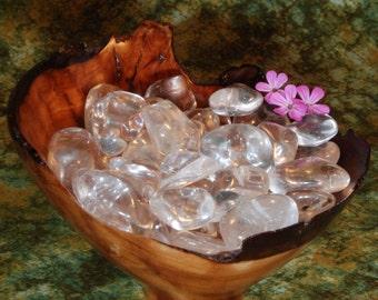 1 CLEAR QUARTZ Tumbled Stone, Clear Quartz Crystal, Clear Quartz Stone, Tumbled Clear Quartz, Clear Quartz Gemstone, Clear Quartz Tumbleston