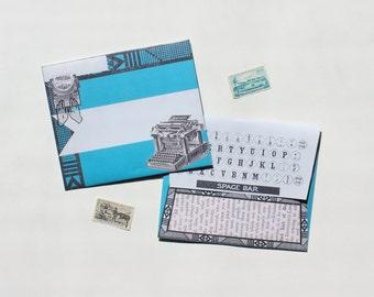 """Envelopes - Set of 5 - """"Typewriter"""""""
