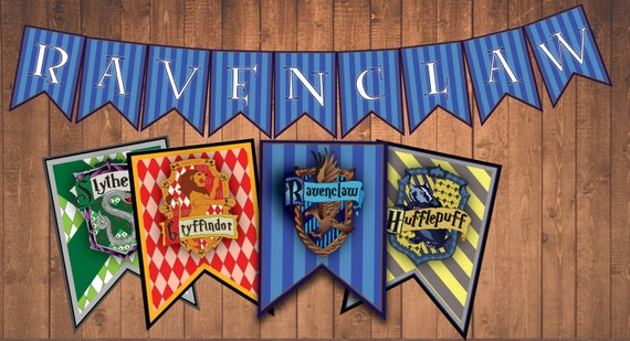 Harry Potter House Banners Instant