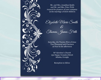 editable wedding invitation templates free download - white ornaments etsy