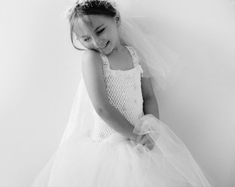 Wedding Tutu Dress with details on bodice veil included.