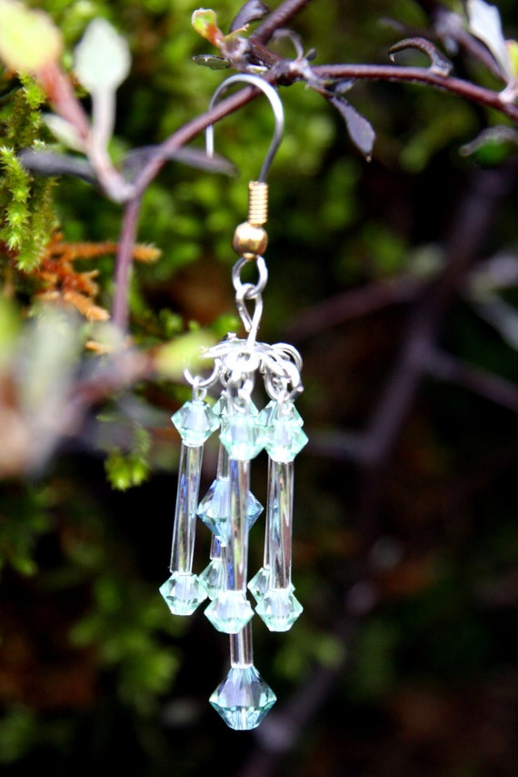 Fairy Garden Wind Chimes With Genuine Swarovski Crystals In