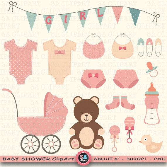 Baby dusche clipart clipart baby shower baby - Idee baby shower fille ...
