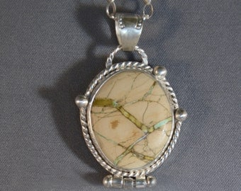 Variquoise and Sterling Silver Pendent