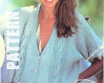 King Cole Knitting Patterns To Download : Womens Knitting Pattern K3893 Ladies Round Neck Short Sleeve Cardigan with Ca...