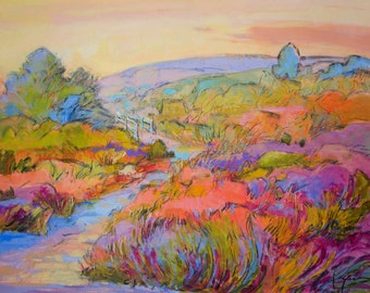 The Meadow | Garden Landscape Painting by Dorothy Fagan