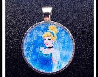 Princess Cinderella Pendant charm cabochon for Chunky Bubblegum necklaces