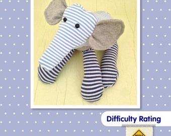 Elephant Soft Toy Sewing Pattern.    Stuffed Animal