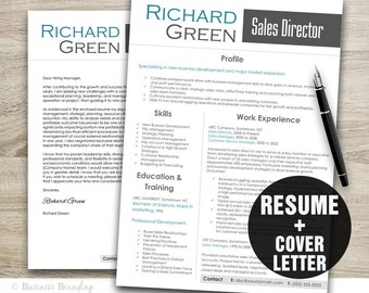 resume and cover letter template resume template professional resume instant download resume download