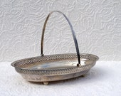 Antique Silver Plated Tray with Handle and ball feet  with engraving