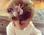 Flower Girl Headband, newborn flower headband, boho baby headband, newborn photo prop, newborn headband, newborn photography, lace flower