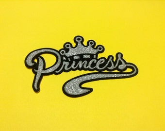 "Silver ""Princess"" Iron on Sew on Patch"