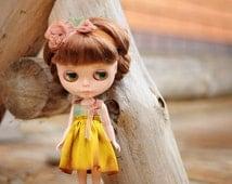 Blythe clothes - Dress  for Blythe  - Blythe retro dress - vintage dess