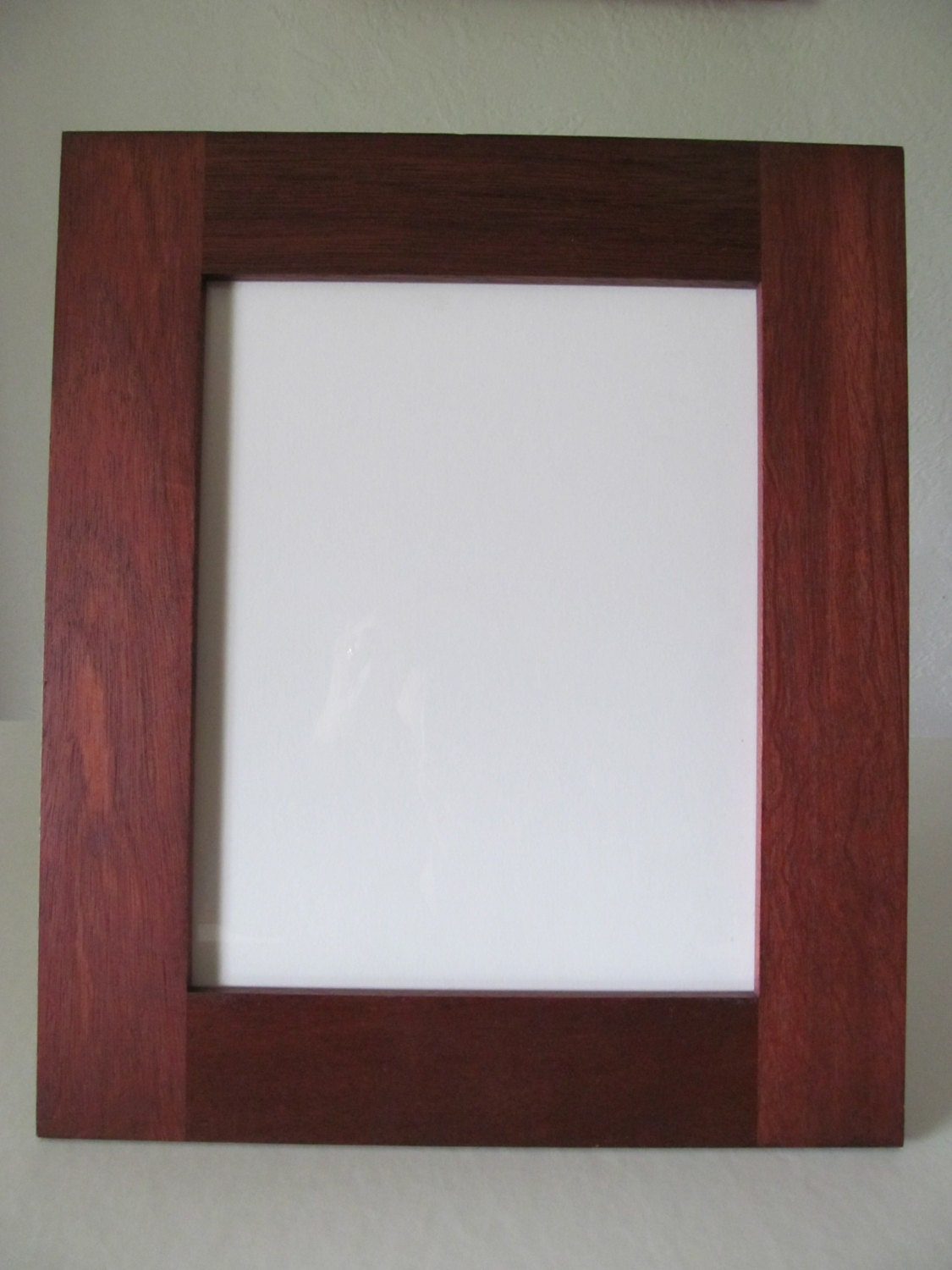 handcrafted 8x10 picture frame acid free backing with glass