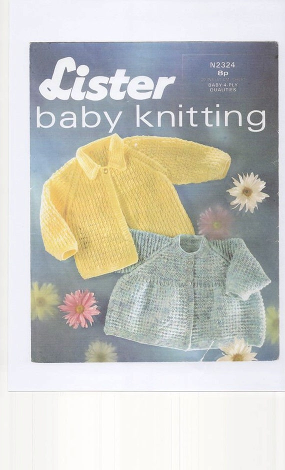 Baby Knitting Patterns Only : Babies Matinee Jacket , 4ply knitting pattern, matinee knitting pattern, baby...