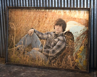 Custom Print on Wood w/ Distressed Wood Frame-Send Us Your Digital Image