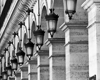 Paris black and white photography, Paris lamps, Paris photography, black and white photo, French wall art, Paris decor, fine art print
