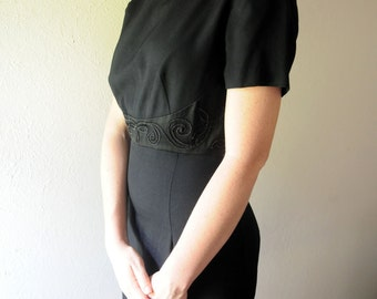 SALE!! Was 18 now 10!!! Size 6-Vintage Lois Snyder Dani Max Black Dress