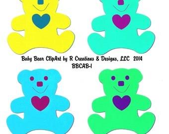 Digital Bear Clipart-Bear ClipArt, Clipart, Digital ClipArt, Digital Bear ClipArt, Scrapbook ClipArt