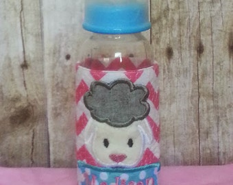 Baby Bottle Wrap with Lamb and Name