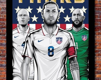 World Cup Soccer | TEAM USA Poster | 13 x 19 inches