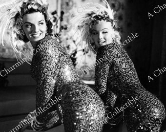 "MARILYN MONROE & Jane Russell 8x10 or 11x14 Photo Print ""Gentleman Prefer Blondes"" 1953 Hollywood Classic 1950's Wall Hanging Art Home Decor"