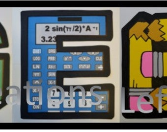 Creative Personalized Wall Art /Decorations for your school classroom or office. Algebra Design