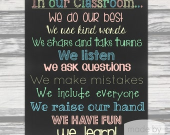 In Our Classroom 16x20 Poster- Instant Download