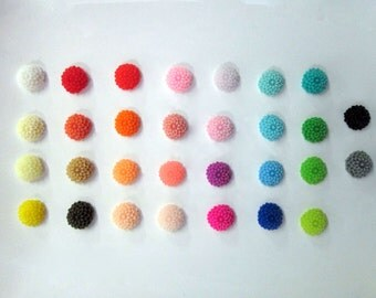 10mm mum flower cabochons, assorted color, pick your amount