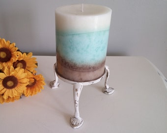 Distressed, Painted Candle Holder, Shabby Chic, Country Chic, French Country