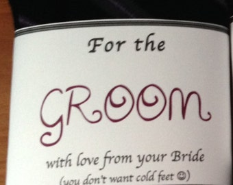 Just In Case Your Feet Get Cold - Groom's Sock Label