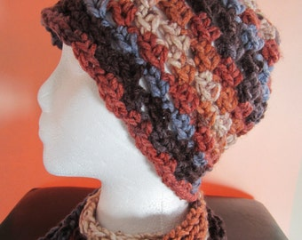 Emma - Multi-Color Hat and Scarf Set