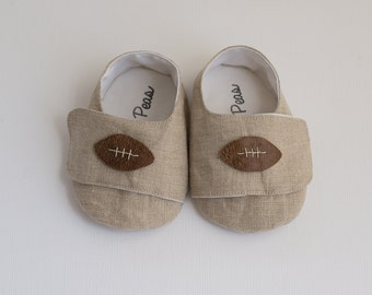 Baby Shoes Baby Boy Shoes Toddler Boy Shoes Soft Sole Shoes Spring Shoes Summer Shoes Light Brown Shoes Football Shoes
