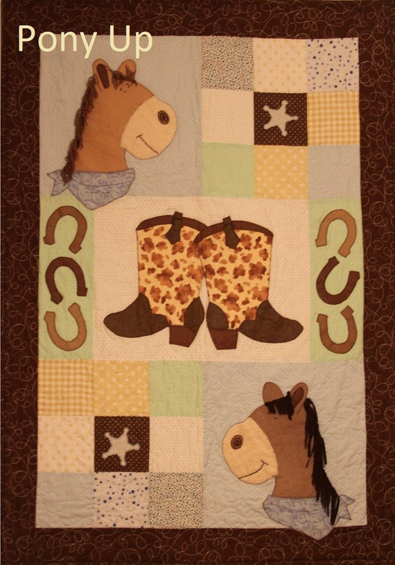 Pony Up Baby Quilt Pattern Western Horse