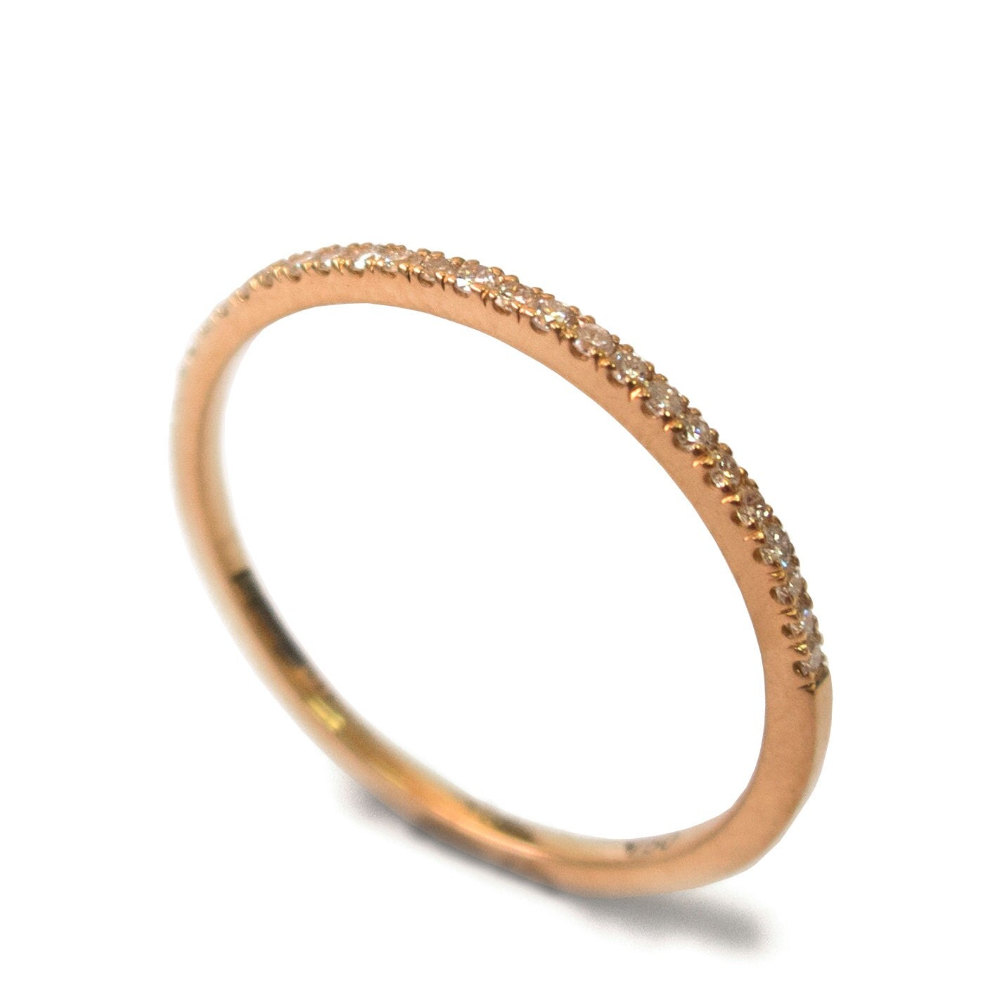 Half Eternity Ring 14K Rose Gold And Diamond Ring Diamond