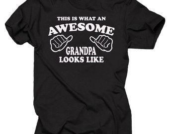 This Is What An Awesome Grandpa Looks Like T-shirt Gift For Grandfather Tee Shirt