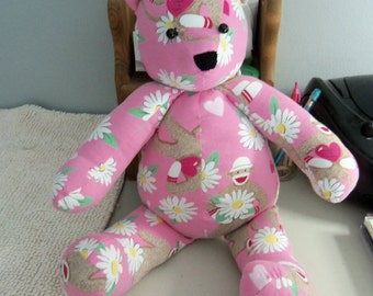 DO NOT ORDER this bear.  Example only!  Cuddle Teddy Bears handmade from your loved ones clothing