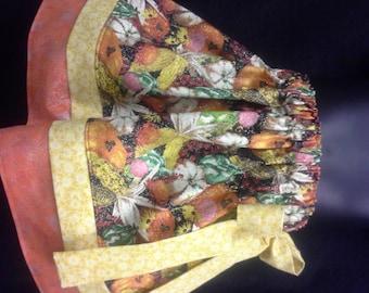 Girl, Fall Skirt, Toddler 2T 3T 4T, Pumpkin Skirt, Thanksgiving Skirt, Ready to Ship, Corn, Handmade, Elastic Waist, Tiered, Knee Length RTS