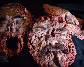 Set Of 3 Gross, Realistic, and Bloody Human Faces! Hand Made, with Free Shipping!