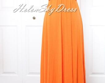 Bridesmaid Dress Infinity Dress Orange Bridesmaid Dress Wrap Convertible Dress