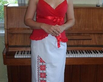 Embroidered ukrainian skirt plahta