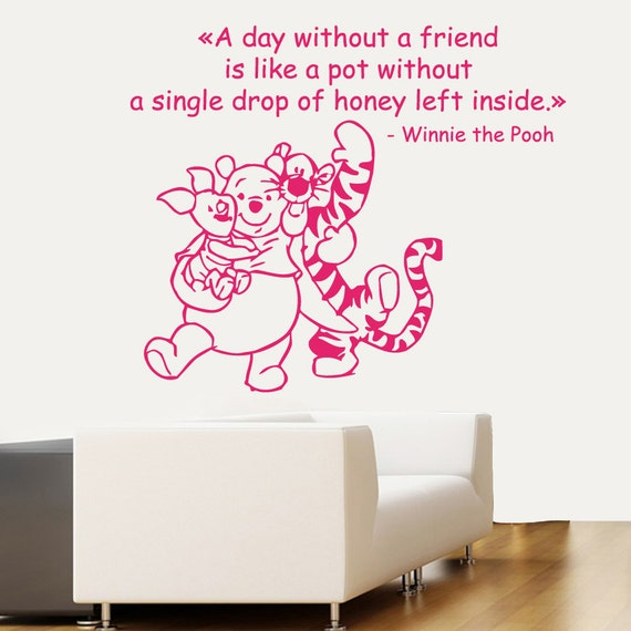 Wall Decals Vinyl Decal Winnie The Pooh Quote By