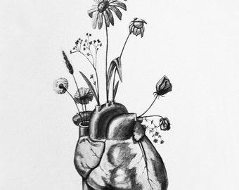 "Anatomical Vase - 8.5"" x 11"" art print"