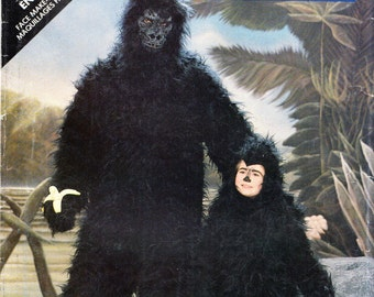 Butterick 5799 ADULT GORILLA COSTUME circa 1987 King Kong Sewing Pattern