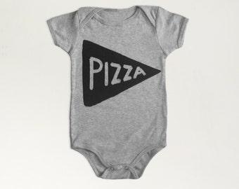 Baby Gift Pizza Baby Bodysuit, baby shower gift for new mom gift for baby gift for women philadelphia new dad gift baby bodysuit