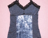 Night Life blue trees cami