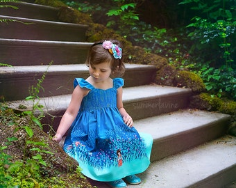 Midnight Lights DRESS- Available in sizes:  12 months - 8 handcrafted by VALERIYA